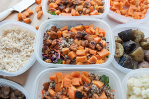Veggie Campus Weekly Meal Prep in Food Containers