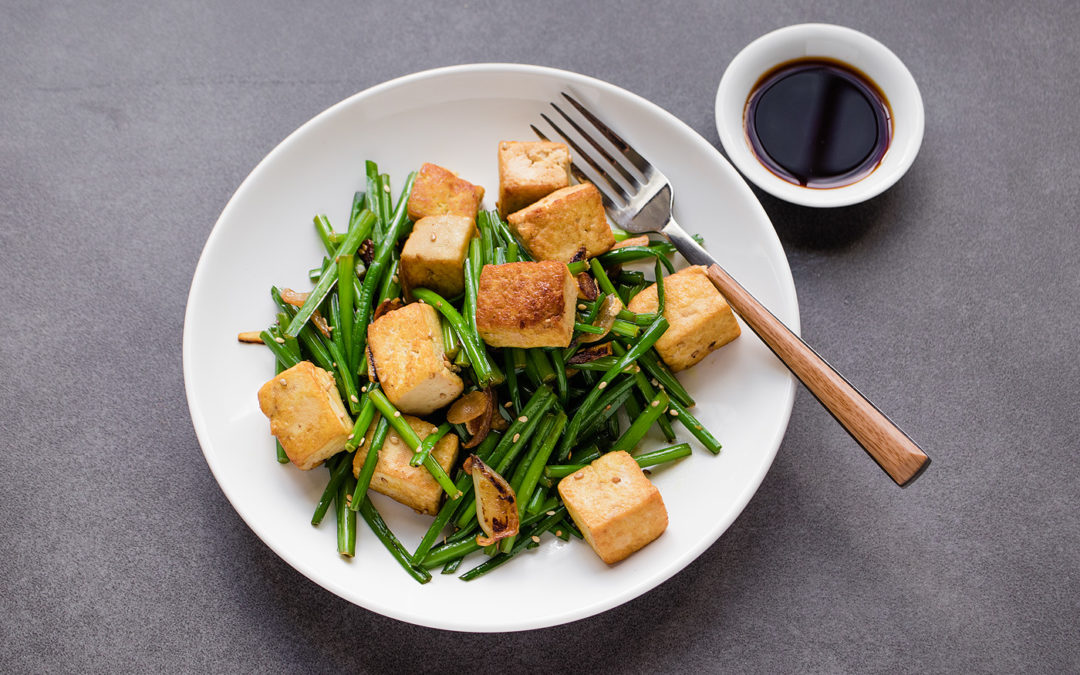 Garlic Chives with Tofu Stir-Fry