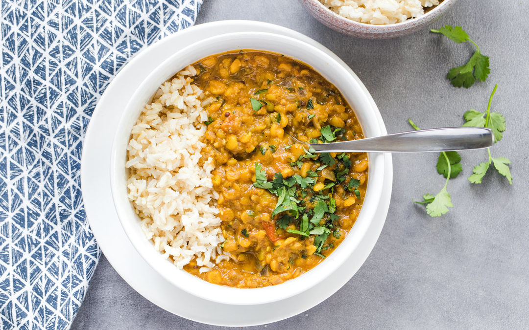 Easy Matar Dal | Vegan Yellow Split Pea Dal