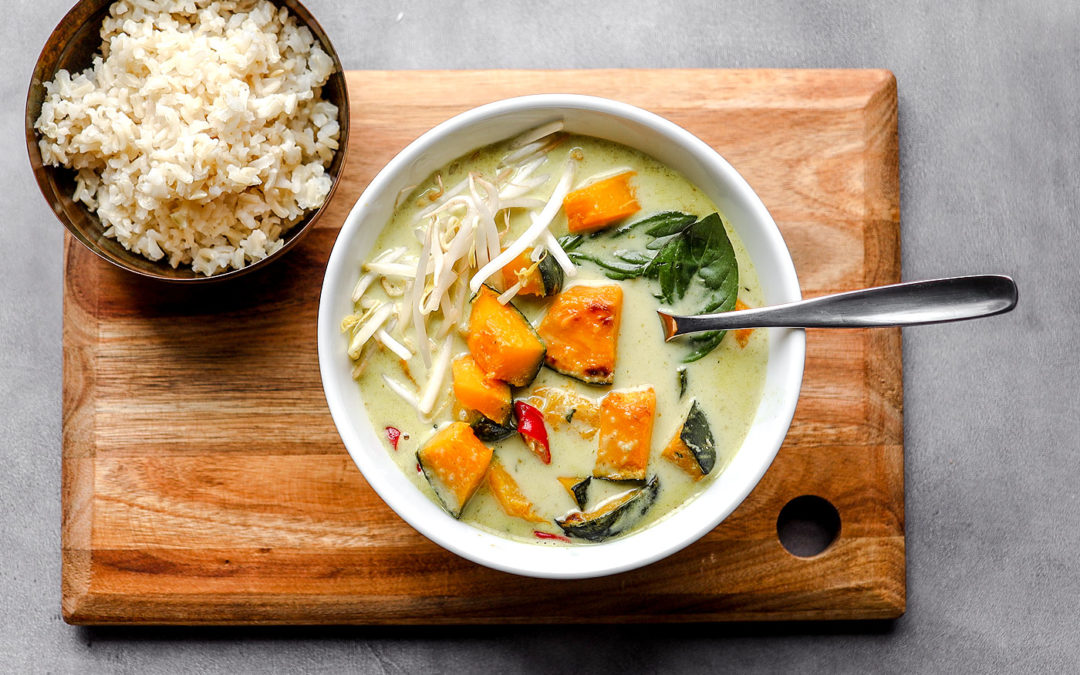 Vegan Kabocha Squash Thai Green Curry