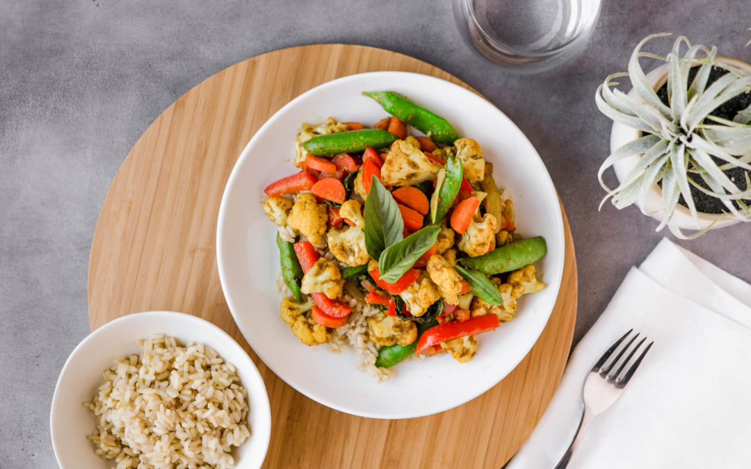 Vegan Thai Yellow Curry Stir Fry