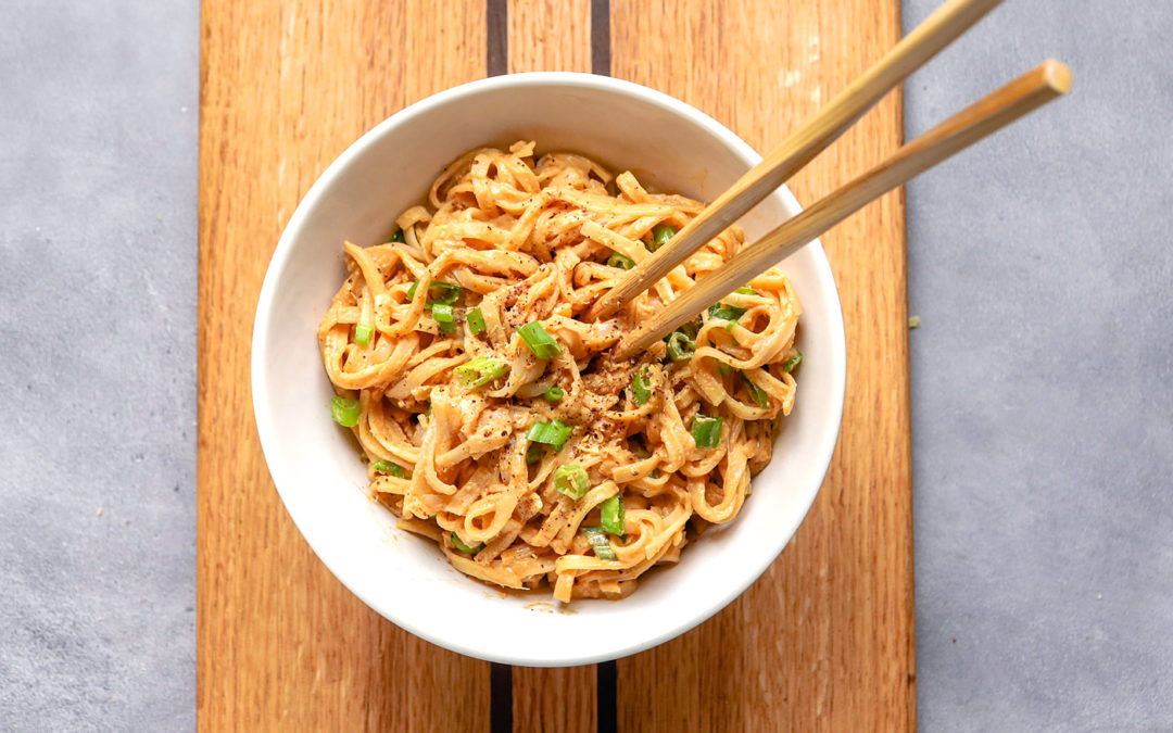 Spicy Vegan Peanut Noodles with Sichuan Peppercorns