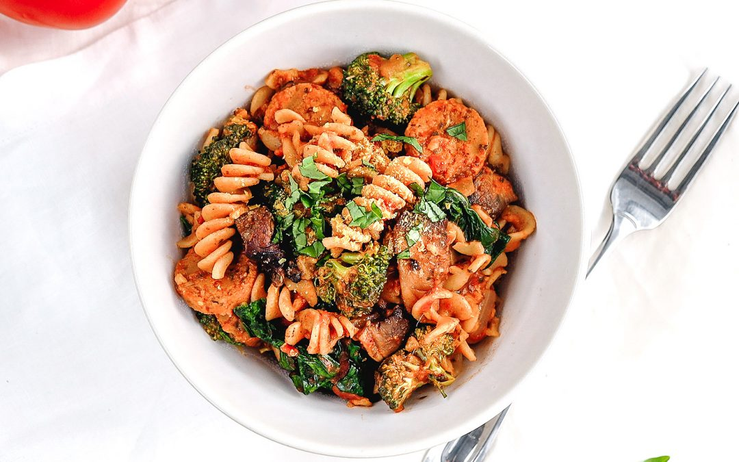 Hearty Mushroom Broccoli Pasta (Vegan)